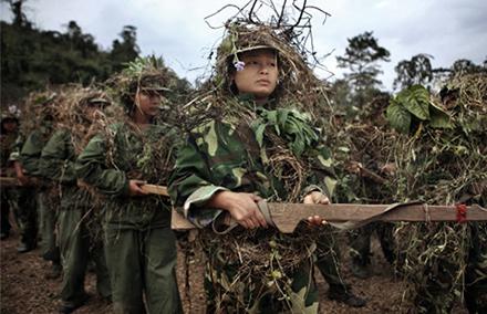 Kachin women undertaking military training. Photo by Adam Dean/ Sony World Photography Awards.