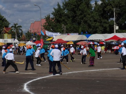 The 2015 tikhi game on That Luang Square. Photo: Oliver Tappe.