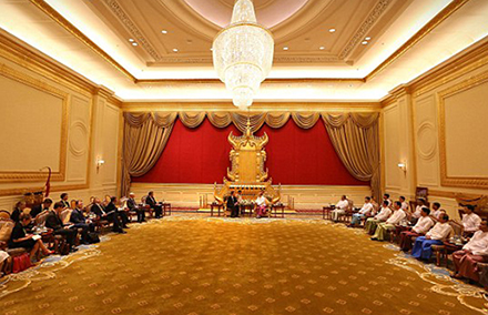 Who will take Thein Sein's seat in the presidential palace?