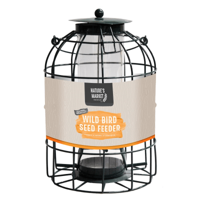 Seed feeder with squirrel guard