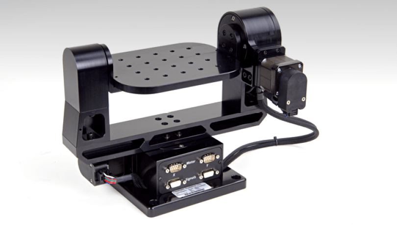 2 axis motorized gimbal mount