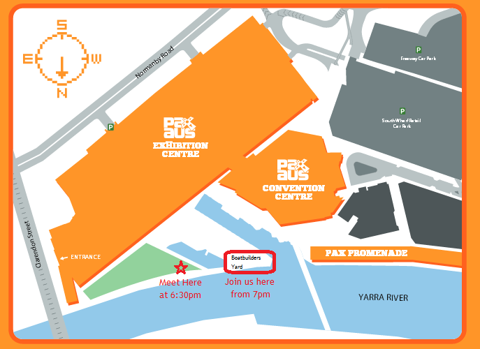 Hallowhedon Venues Map vs PAX