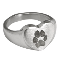 Wholesale Heart Ring with Paw Print | Pet Print Jewelry ...