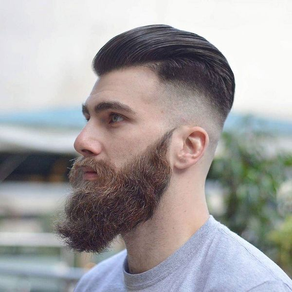 bald Fade With Slick back For Men