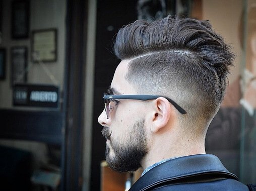 Undercut + Textured Pompadour + Hair Design