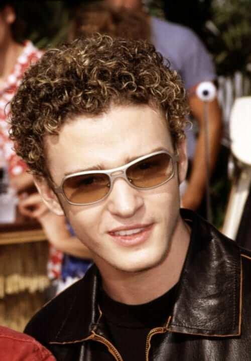 Justin Timberlake Bleached Curls