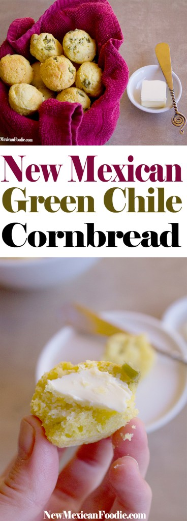 New Mexican Green Chile Cornbread | NewMexicanFoodie.com