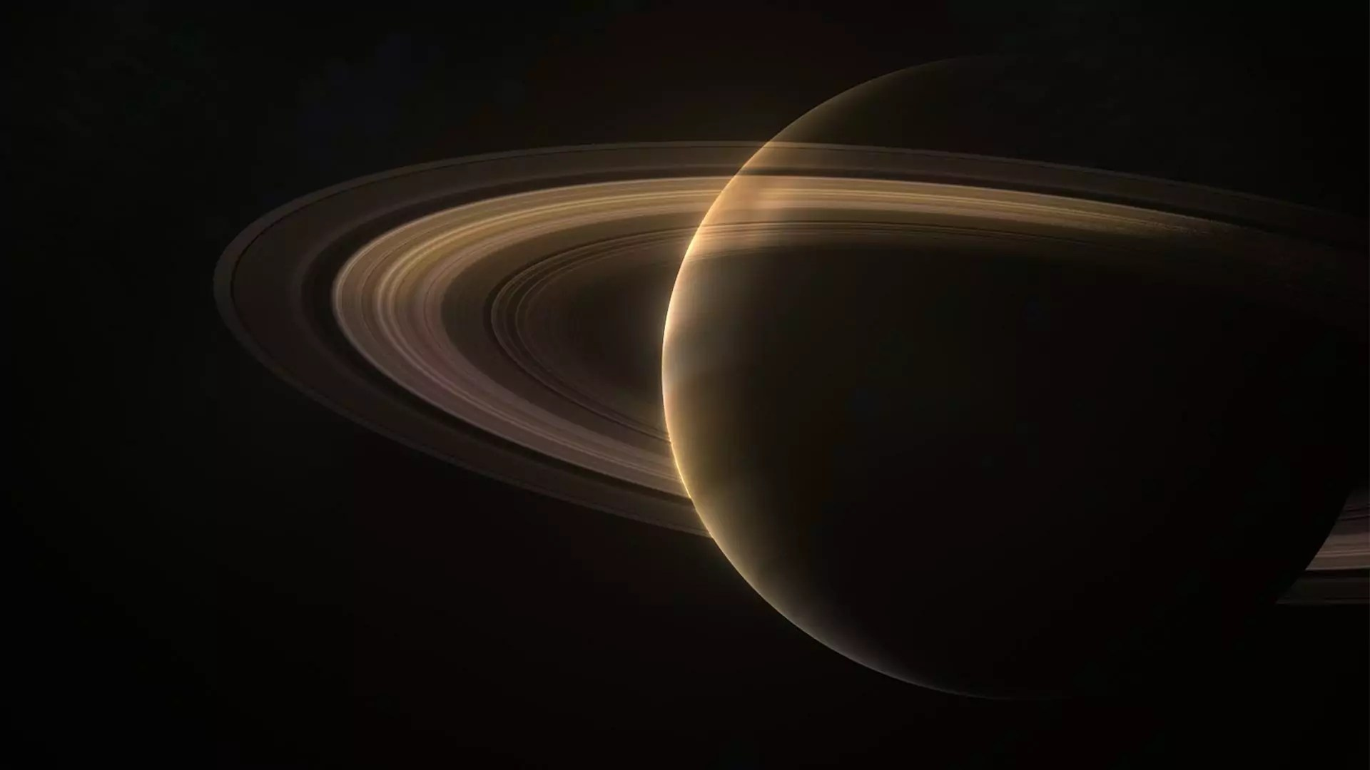 CG illustration of Saturn.