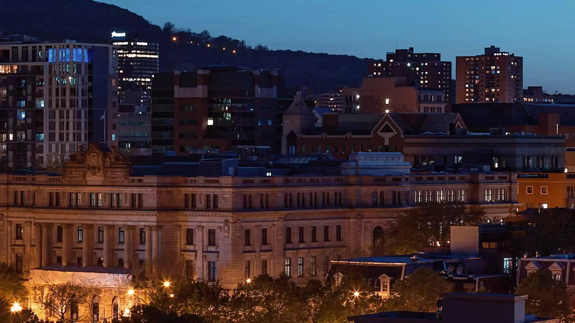 Partial skyline of a city.