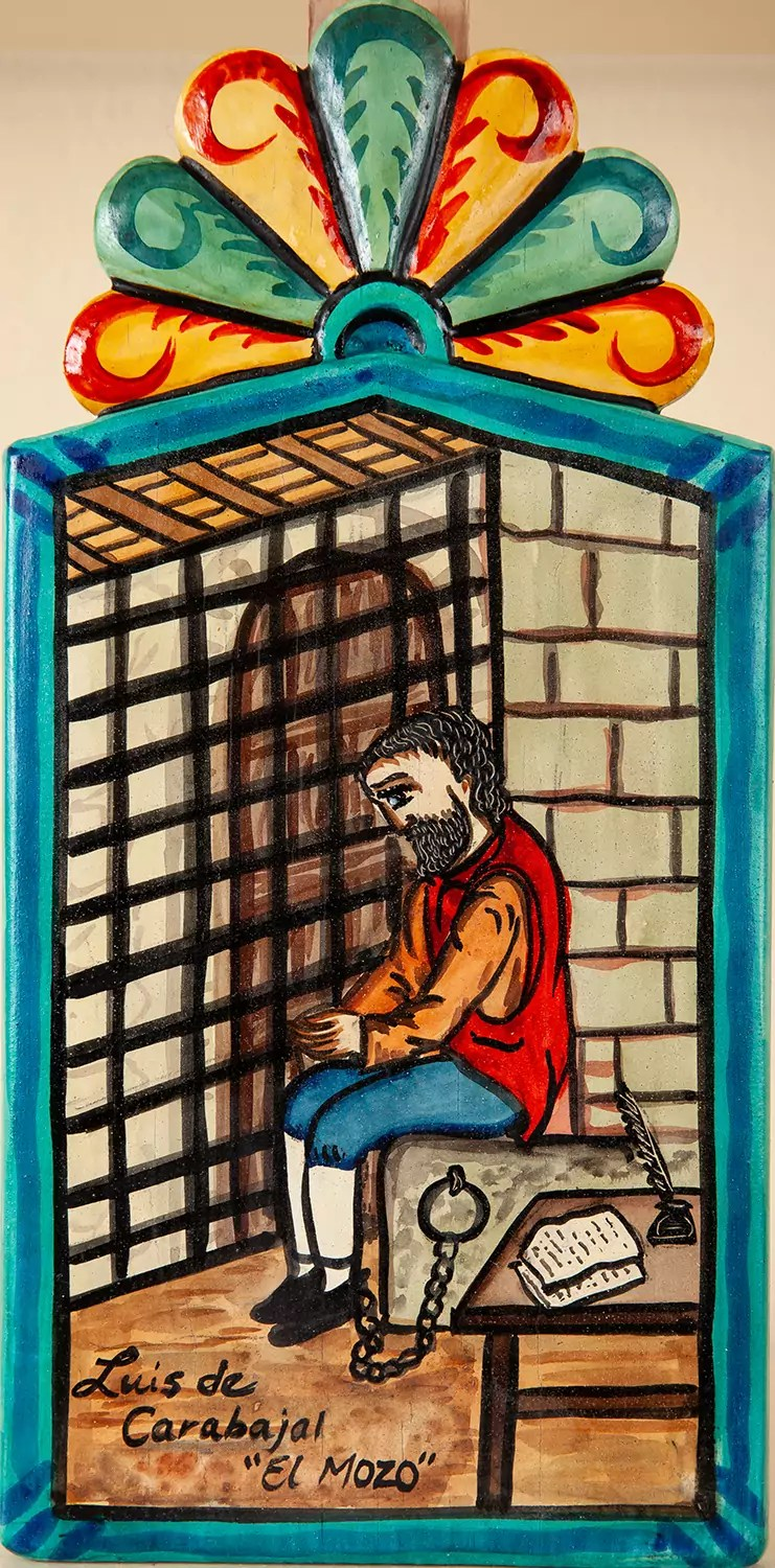 Illustration of a person sitting in a jail cell.
