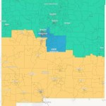 A map of New Mexico with the Congressional Redistricting Concepts