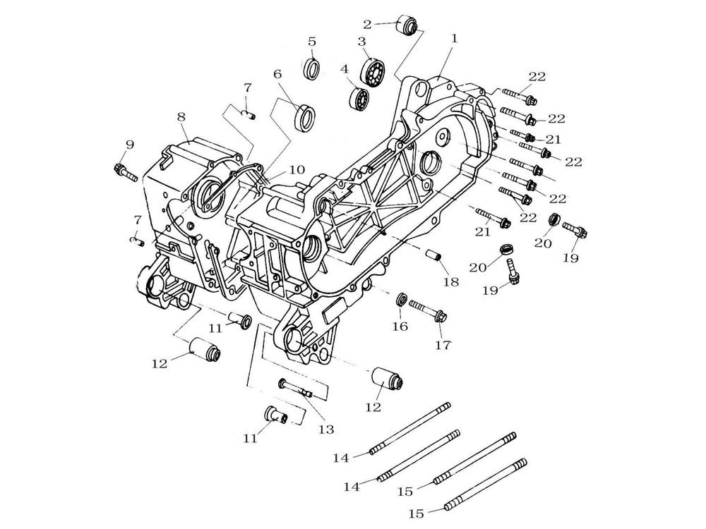Vue Éclaté Moto 50Cc Peugeot