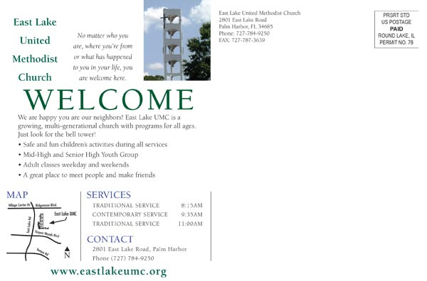 Professionally Designed Church Postcards