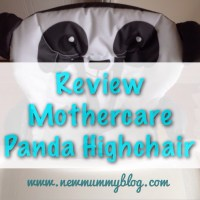 Review: Mothercare Panda Highchair