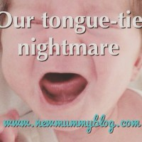 Tongue-tie nightmare - breastfeeding & combination feeding