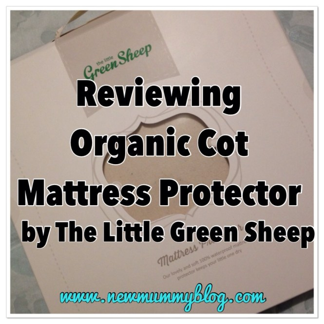 Little Green Sheep Company Cot Mattress Protector Review The Packaging
