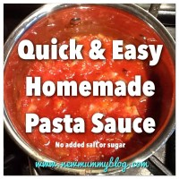 Quick & Easy homemade pasta sauce - no added salt or sugar