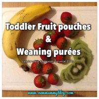 Fruit pouch recipes for weaning and toddlers