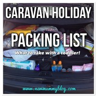 Caravan holiday packing list | What to take to a static caravan with a toddler