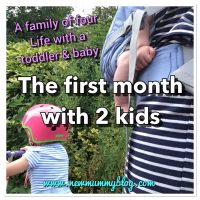 The first month with two kids | Life with a Toddler & Baby