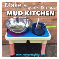 How to make a quick Mud Kitchen for hours of outdoor toddler fun | Garden Toddler Activities