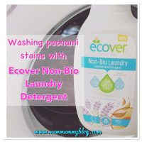 Washing poonami stains with Ecover Non-bio laundry detergent - #EcoverLaundry Challenge with Britmums