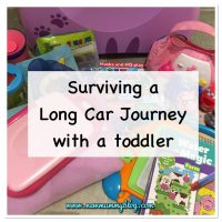 Long car journey with a 2 year old toddler | Tips & activities