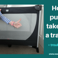 How to put up a travel cot + and help collapse a stuck travel cot in SECONDS