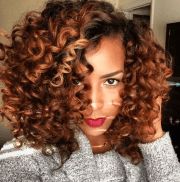 two tone dyed natural hairstyle
