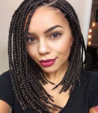14 Dashing Box Braids Bob Hairstyles for Women