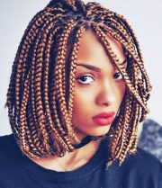 dashing box braids bob hairstyles