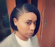 striking 12 box braids bob