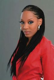 charming long box braids with loose