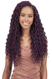 dashing 3 faux locs with curly