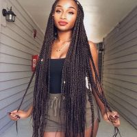 3 Loose Box Braids Hairstyles for Long Hair Women | New ...