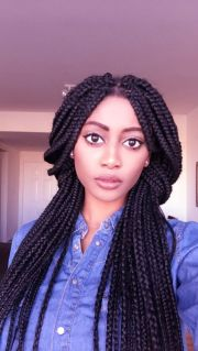 8 center-parted box braids hairstyles