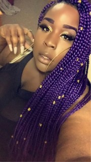 striking 25 purple braids dark