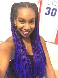 Striking 25 Purple Braids on Dark Skin | Natural Hairstyles
