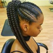 attractive 8 feed in braids ponytail