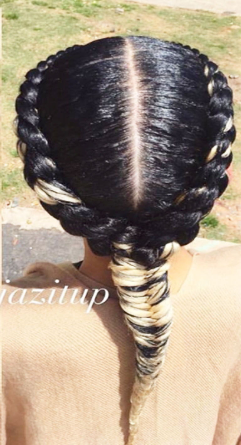 2 Goddess Braids to the Side  New Natural Hairstyles