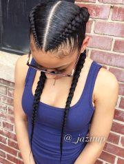 2 goddess braids side