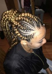 renewed goddess braids ponytail