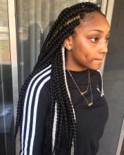 cute box braids hairstyles