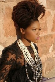 african american flat twist updo