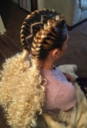 two french braids black