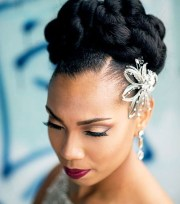 natural hair updos weddings