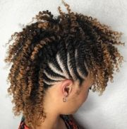 mohawk hairstyles braids with shaved