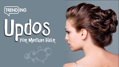 Trending Easy Updos For Medium Hair New Natural Hairstyles