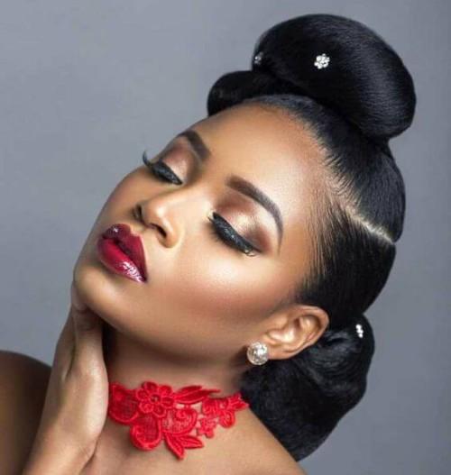 30 Enchanting Natural Hair Bun With Weave New Natural Hairstyles