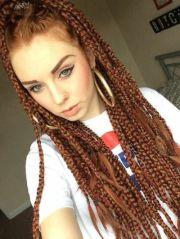 seductive box braids white
